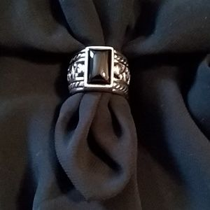 Silpada Sterling/Black Onyx Ring
